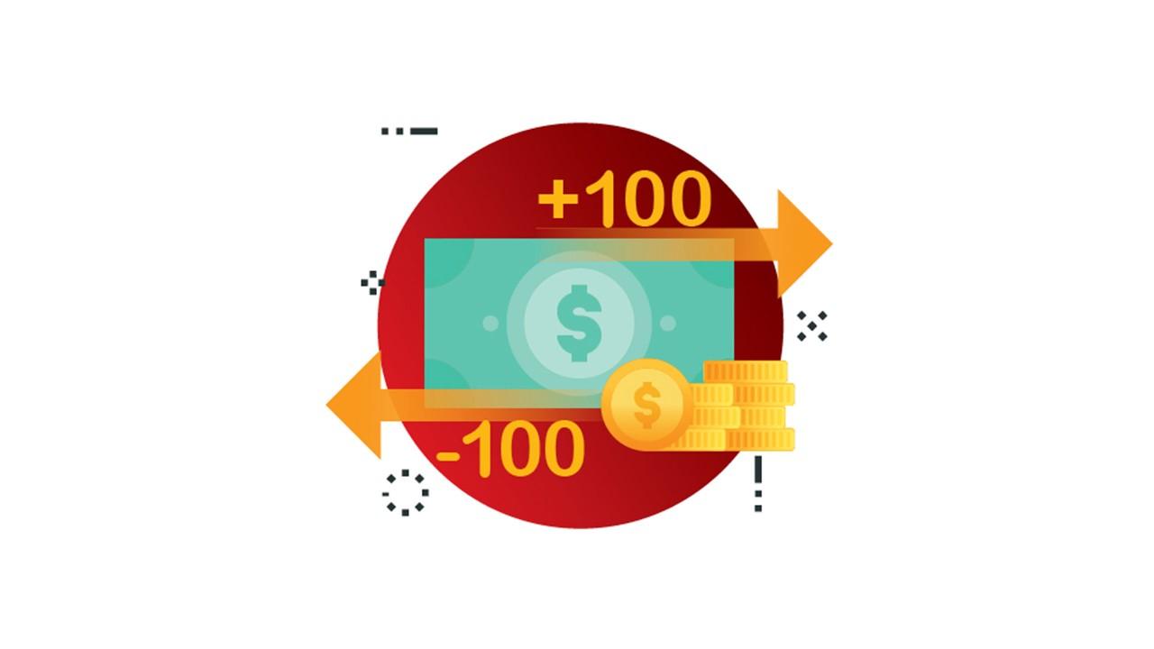 Cash and money illustration