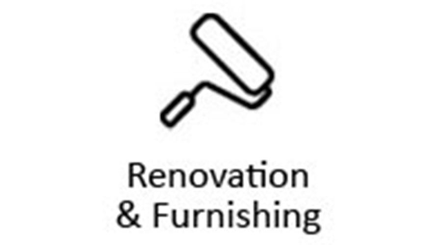 Renovation and furnishing icon